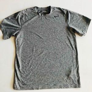 Nike DriFit Men's Grey Short Sleeve Shirt